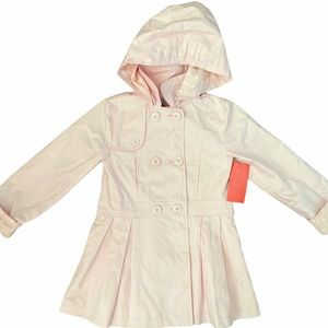 NWT Lisa Rose Girls Pink Trench Coat Size 2-3yrs